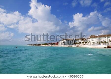 caribbean · strand · zee · blauwe · hemel · hemel · water - stockfoto © lunamarina
