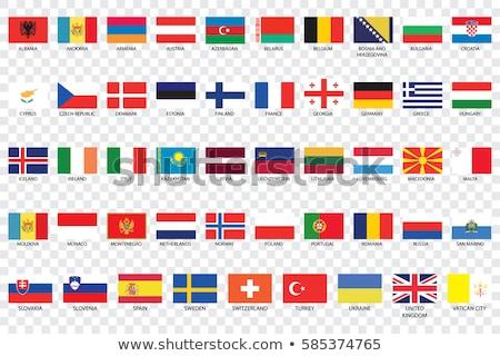 Швейцария Монако флагами головоломки изолированный белый Сток-фото © Istanbul2009