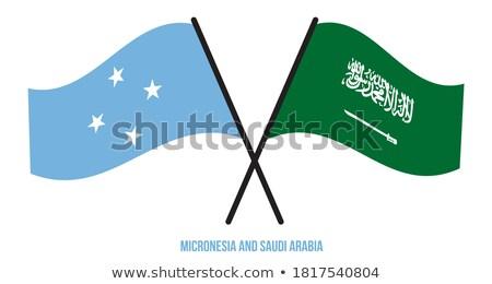 Arábia Saudita Micronésia bandeiras quebra-cabeça isolado branco Foto stock © Istanbul2009