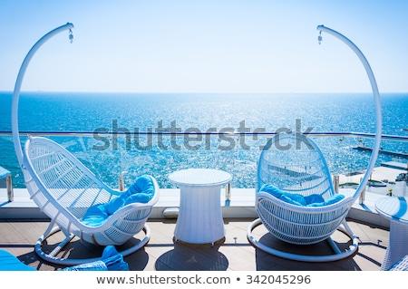 Scenic View from a Seaside Balcony Stock photo © wildnerdpix