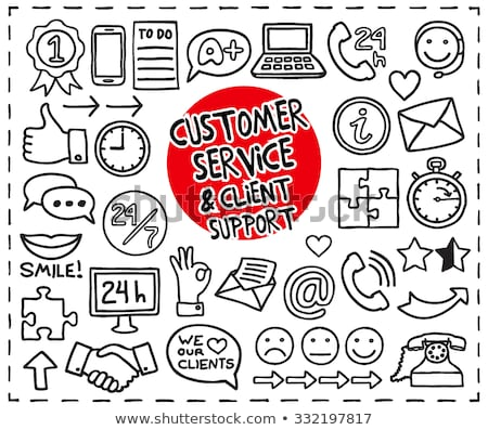Doodle Customer Service icons Stock photo © pakete