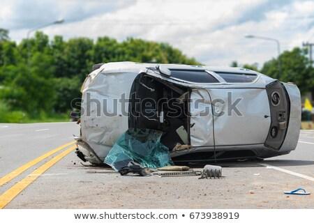 overturned car stock photo © ndjohnston