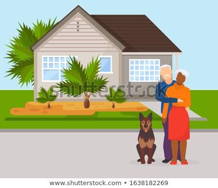 Man Buying a House, illustration Stock photo © Morphart