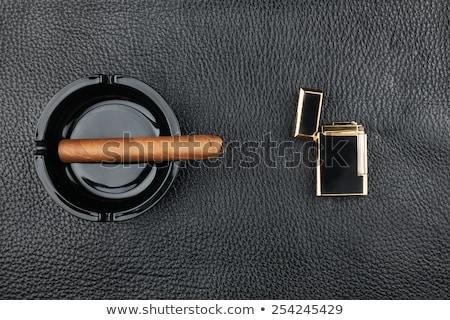 喫煙 · シガー · 灰皿 · 暗い · 健康 · 煙 - ストックフォト © alekleks
