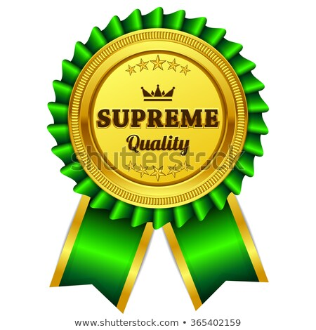 Supreme Quality Green Seal Vector Icon Stock photo © rizwanali3d