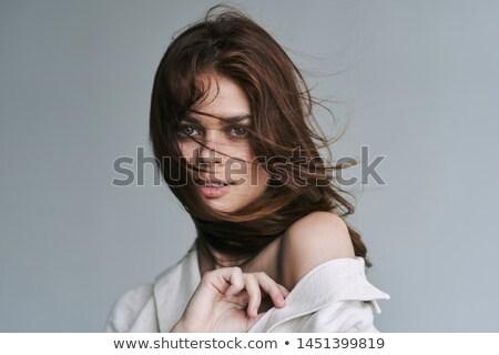 очаровательный женщину красивой Flying долго Сток-фото © deandrobot