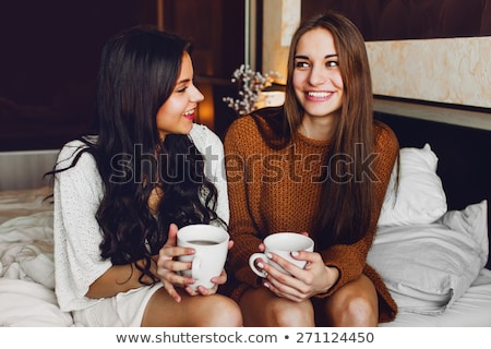 two young laughing hipster women laughing stock photo © dariazu