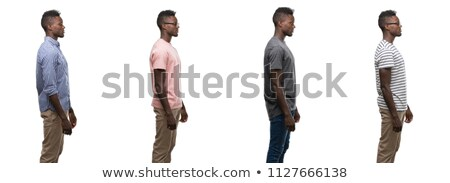 Stock photo: Composite image of side view of serious man