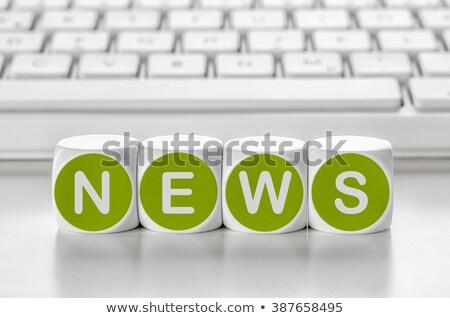 Lettre dés clavier info affaires ordinateur Photo stock © Zerbor