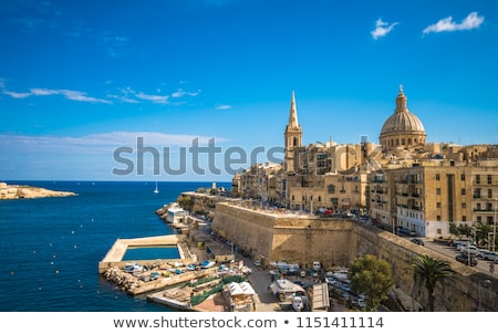 beco · cidade · Malta · europa · céu - foto stock © meinzahn