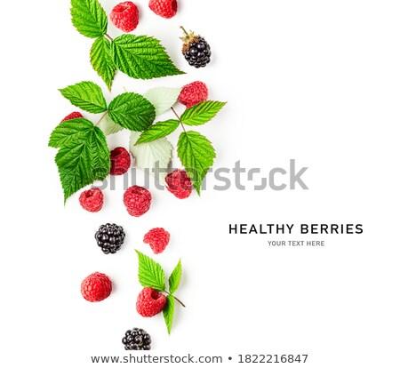 Fraîches framboises fruits groupe Photo stock © Digifoodstock
