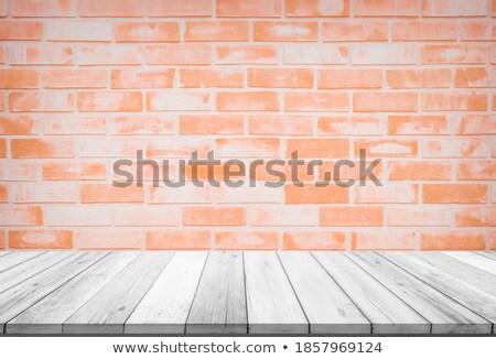 üres nézőpont felső fából készült polc piros Stock fotó © punsayaporn