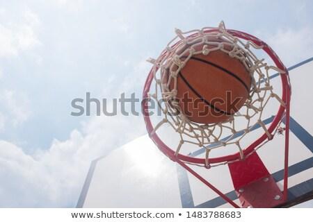 Calle baloncesto juego foto puntuación naranja Foto stock © dzejmsdin