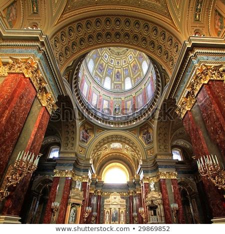 Chain Bridge and St. Stephen's Basilica in Budapest, Hungary at  Stock photo © Kayco