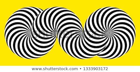 Preto e branco hipnótico abstrato projeto fundo preto Foto stock © illustrart