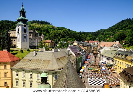 Stock photo: town hall and Old Castle, Banska Stiavnica, Slovakia