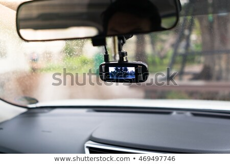 Action camera with suction cap on car windshield window Stock photo © stevanovicigor