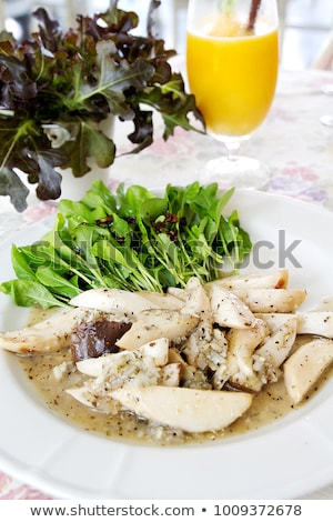 Osztriga gomba saláta gombák friss bors Stock fotó © Digifoodstock