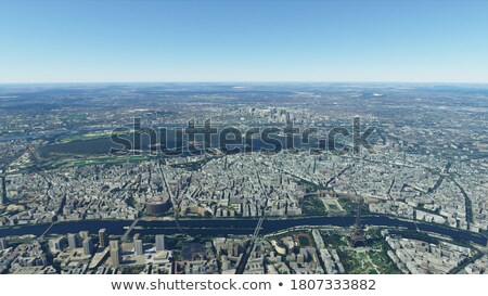 view on city from airplane stock photo © svetography