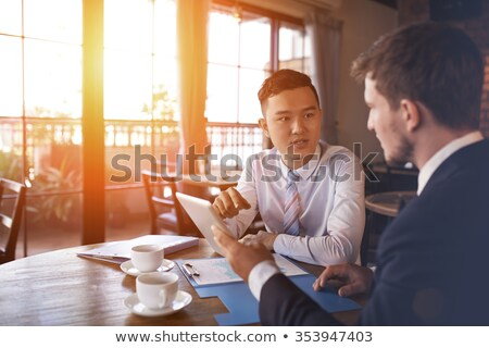 A graph with two people Stock photo © bluering