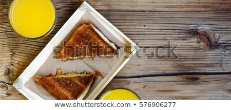 Sandwich and orange juice Stock photo © georgemuresan