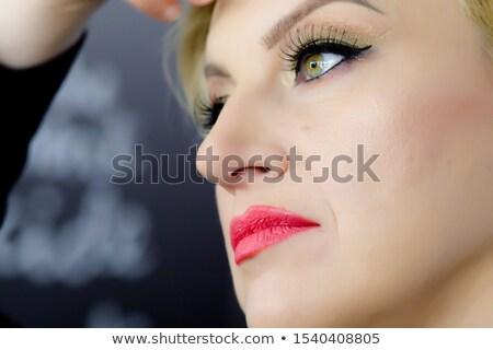ショット フル 唇 小さな ブロンド ストックフォト © igor_shmel