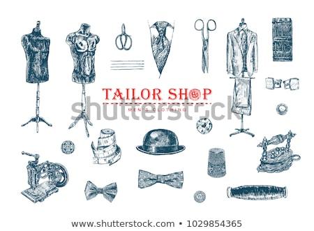 masculina · traje · boceto · icono · vector · aislado - foto stock © RAStudio