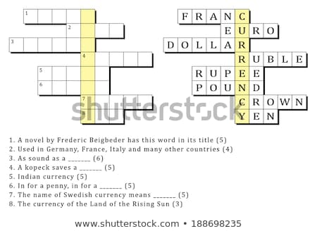 Puzzle szó pénz kirakó darabok építkezés játék Stock fotó © fuzzbones0