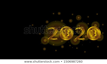 Happy New Year Merry Christmas banners with golden coins, vector illustration Stock photo © carodi
