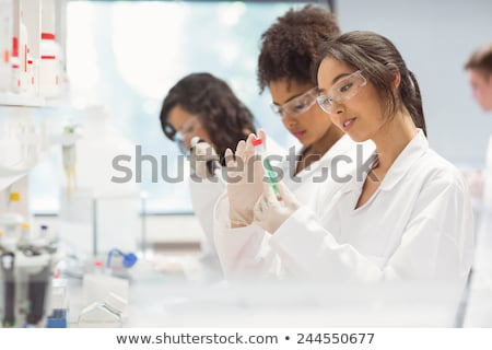 female student working at laboratory class stock photo © rastudio