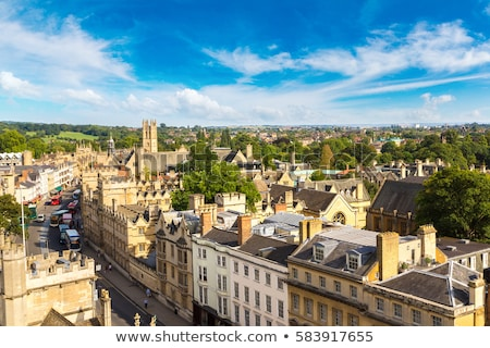 Foto stock: Oxford · ciudad · pared · vista · edad · dentro