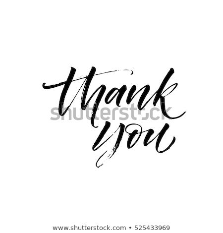 Stok fotoğraf: Teşekkürler · kaligrafi · mürekkep · fırçalamak · yalıtılmış