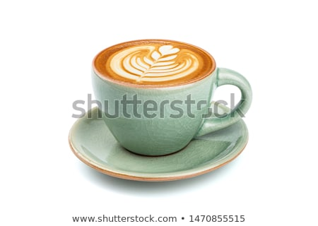 A green cup with coffee Stock photo © bluering