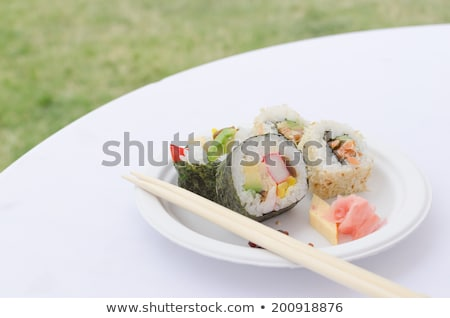 Futo maki, Dashimaki, Philadelphia uramaki Stock photo © Peteer