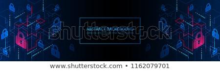 Internet Security Isometric horizontal Banners Stock photo © -TAlex-