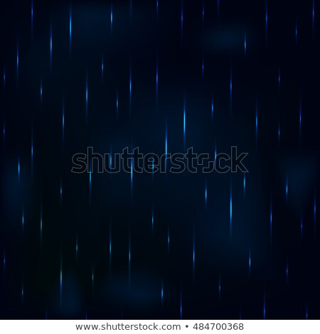 Dribble rain at night dark blue foggy sky. Stock photo © yopixart