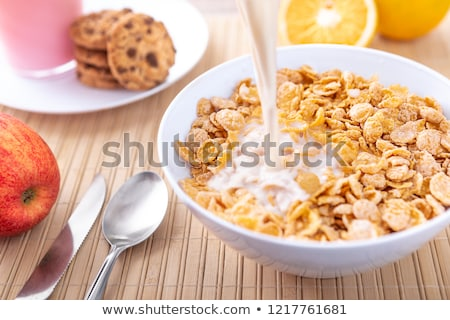 cereal with milk stock photo © lorenzodelacosta