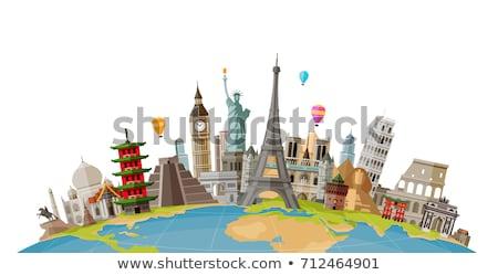 Mundo tour ilustração objetos ícones Foto stock © get4net