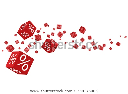 A heap of cubes percent symbol. Stock photo © almagami