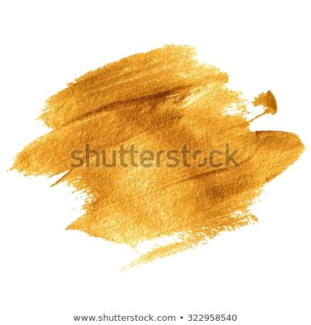 Gold Texture Paint Stain Illustration. EPS 10 Stock photo © beholdereye