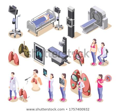 insan · akciğer · ikon · siluet · tıp · klinik - stok fotoğraf © boogieman