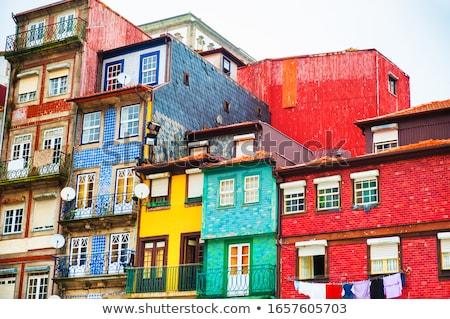Portugal mooie oude binnenstad huis bouw reizen Stockfoto © joyr