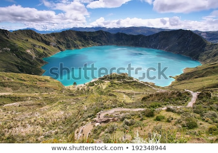 Crater lake with reflections in Quilotoa, Ecuador Stock photo © julianpetersphotos