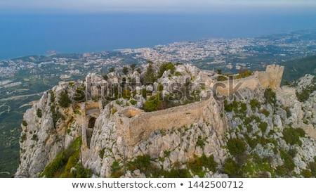 View of the north coast from the ruins of St Hilarion Castle. Kyrenia District, Cyprus Stock photo © Kirill_M