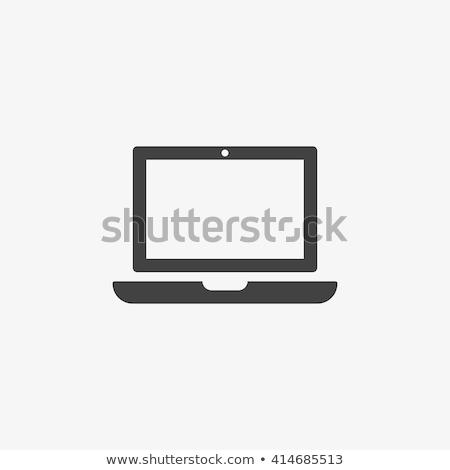 Laptop ikon stílus citromsárga üzlet pénz Stock fotó © ylivdesign