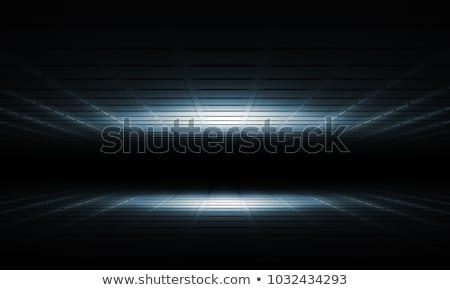 Absztrakt fekete négyzetek tech nézőpont vektor Stock fotó © saicle