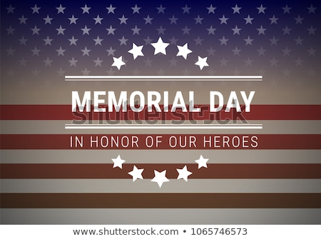 Stok fotoğraf: American Flag For Memorial Day Vector