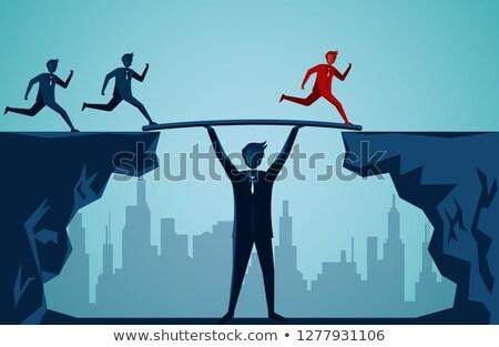 リーダーシップ 橋 ビジネス 成功 リーダー ビジネスマン ストックフォト © Lightsource