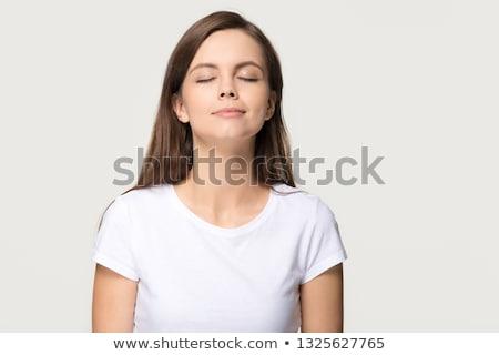 Mulher jovem cheiro perfume pulso mão Foto stock © julenochek
