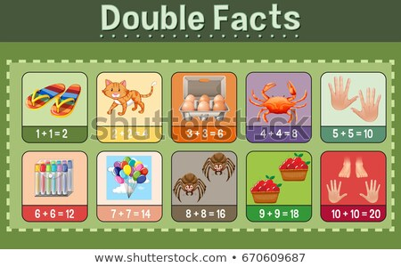 Mathematics poster for double facts Stock photo © bluering